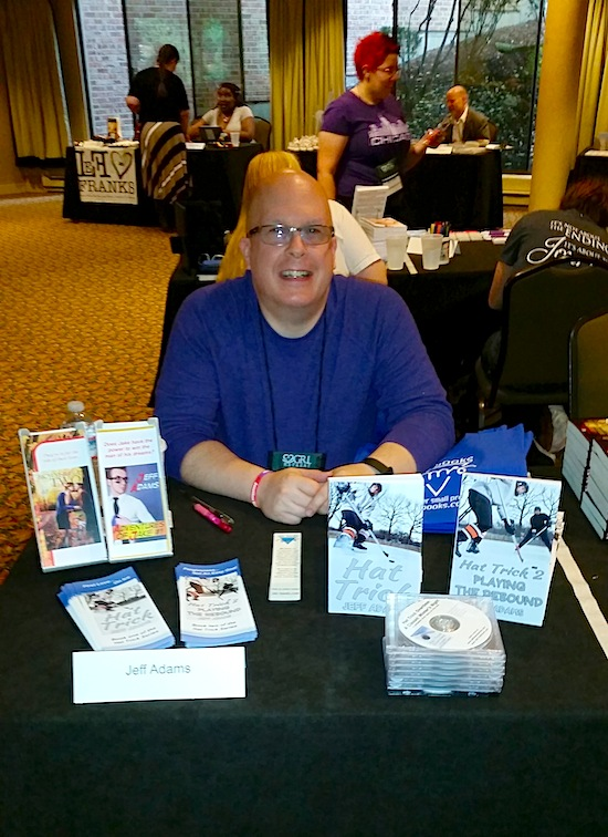 Jeff ready to go at his table for the signing.