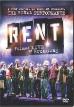 Rent Filmed Live on Broadway DVD