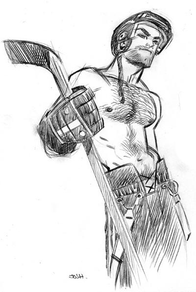 Hockey Josh - Artwork by J. Bone