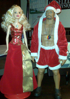 Holiday Barbie & Santa Billy