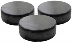 11582685-three-old-black-hockey-puck-isolated-on-white-background