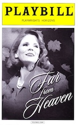 Far From Heaven Playbill