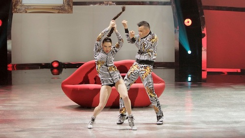 Jenna and Mark perform a Jazz routine choreographed by Mark Kanemura.