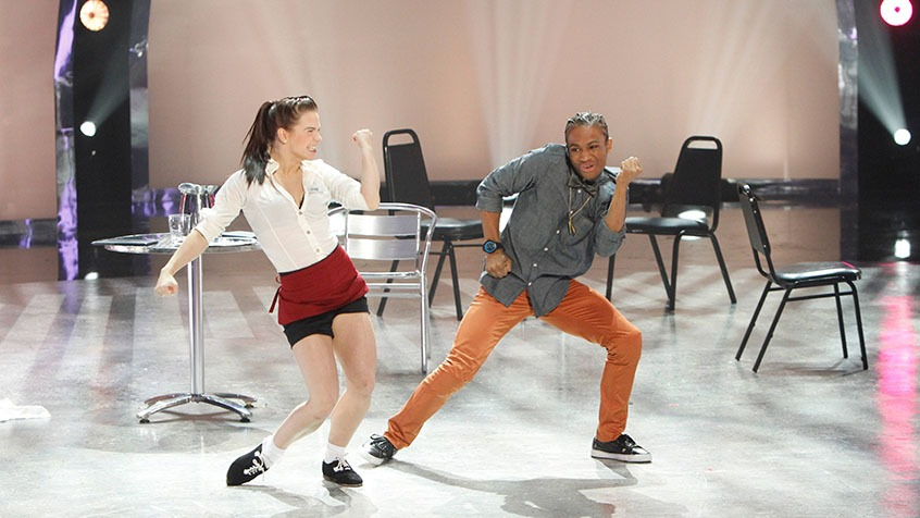 Amy and Fik-Shun perform a Hip Hop routine choreographed by Chris Scott.