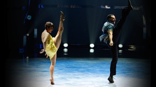 Melanie and Aaron perform a Broadway routine choreographed by Spencer Liff.