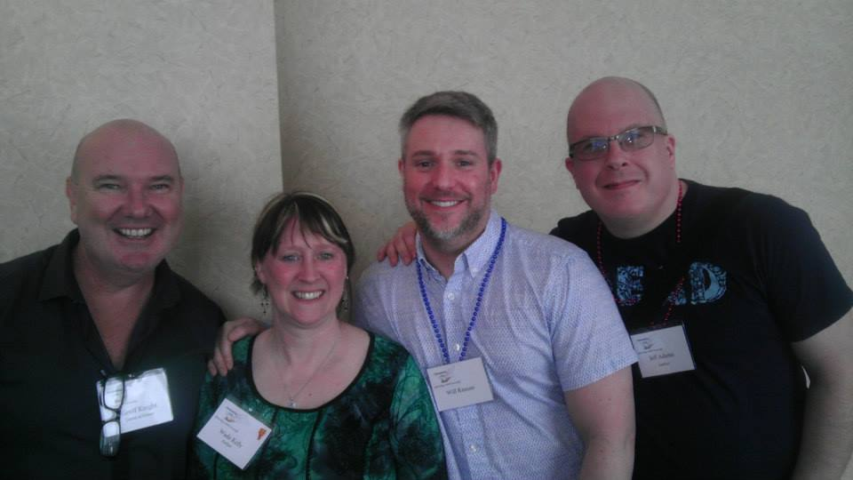 Wade Kelly, along with author Gefforey Knight and us at Rainbow Con 2014.
