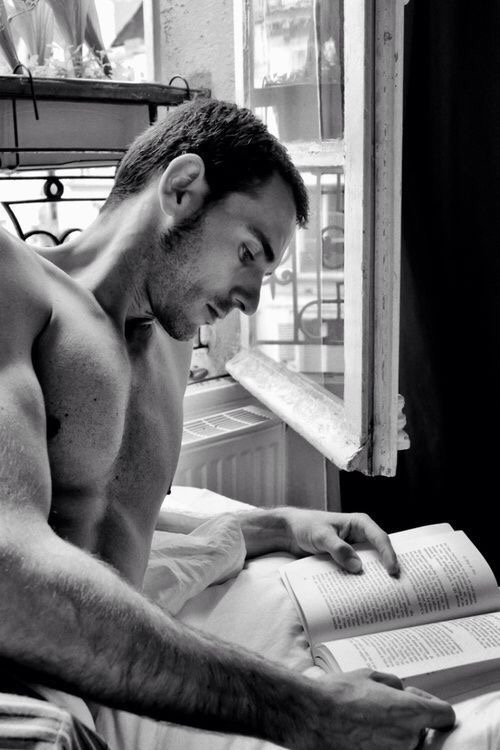 hot guys reading a book pictures