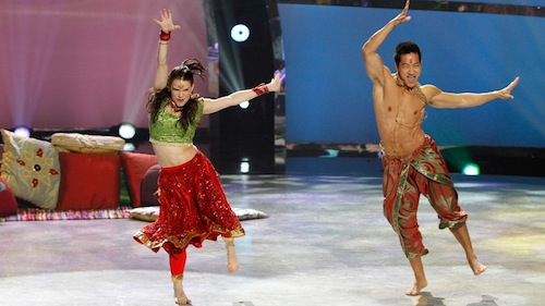 Amy and Alex perform a Bollywood routine choreographed by Nakul Dev Mahajan.