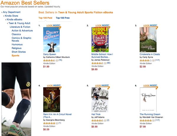 Hat Trick at #5 on Amazon