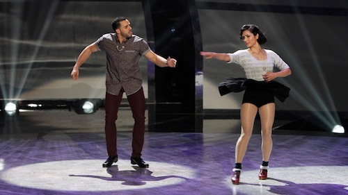 Melinda and Aaron perform a Tap routine choreographed by Anthony Morigerato.