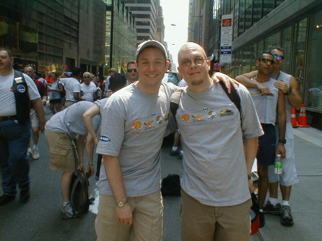 Retro Pride - Jeff and I in 2002