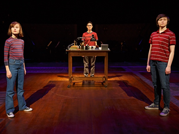 The three Alisons together in Fun Home